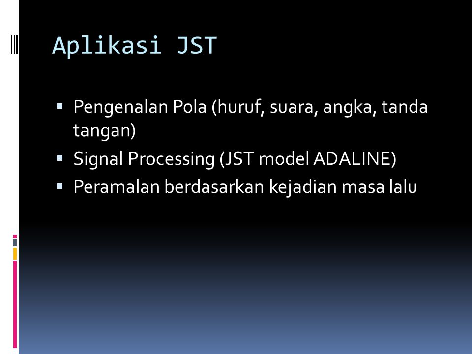 Aplikasi JST Pengenalan Pola (huruf, suara, angka, tanda tangan)