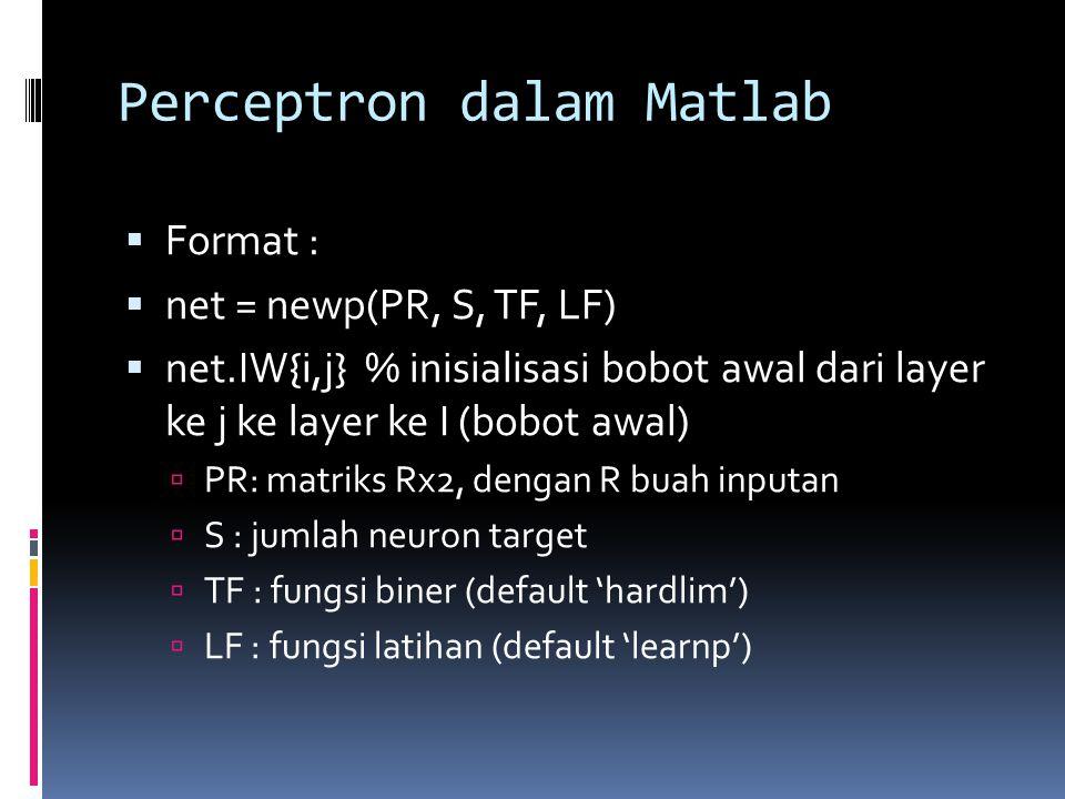 Perceptron dalam Matlab
