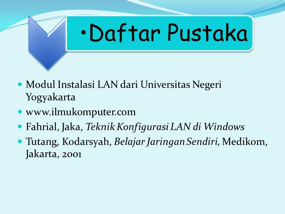 Modul Instalasi LAN dari Universitas Negeri Yogyakarta