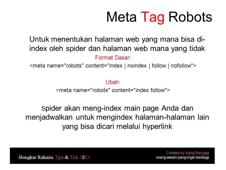<meta name= robots content= index follow >