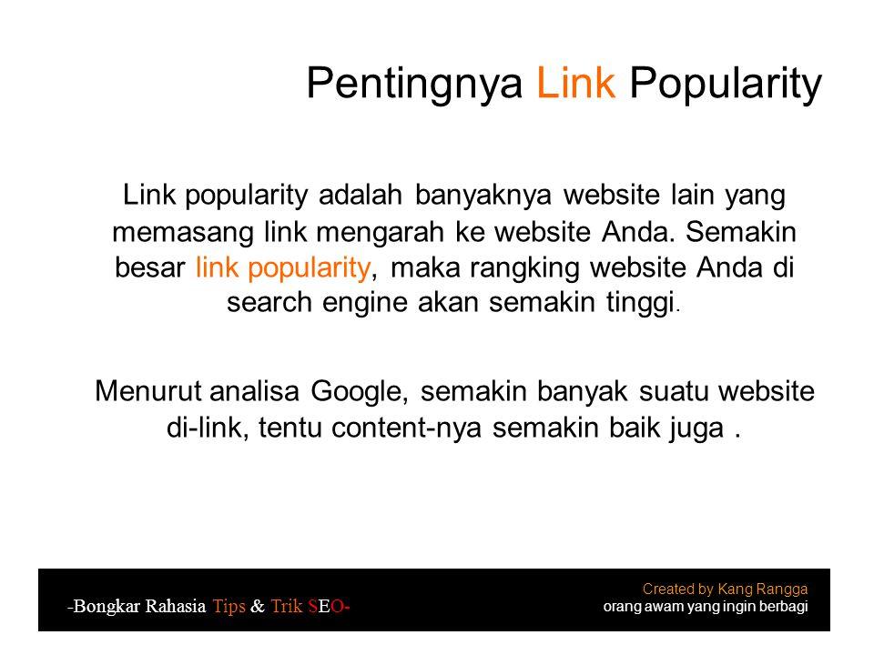 Pentingnya Link Popularity
