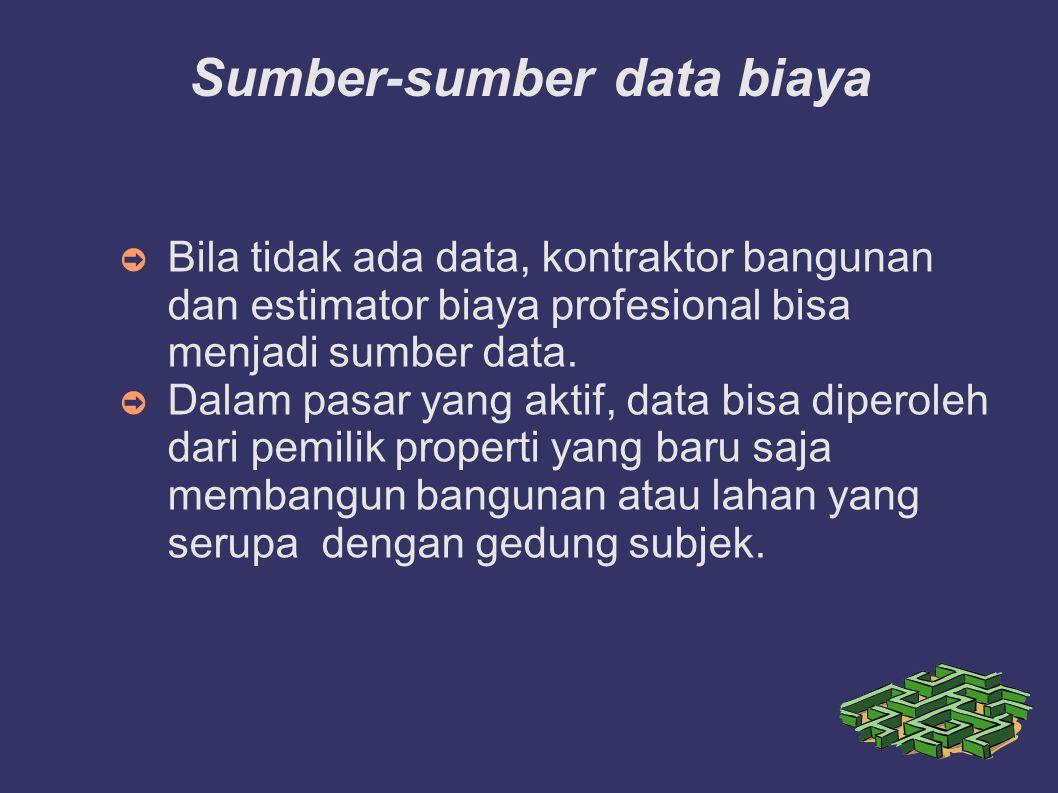 Sumber-sumber data biaya