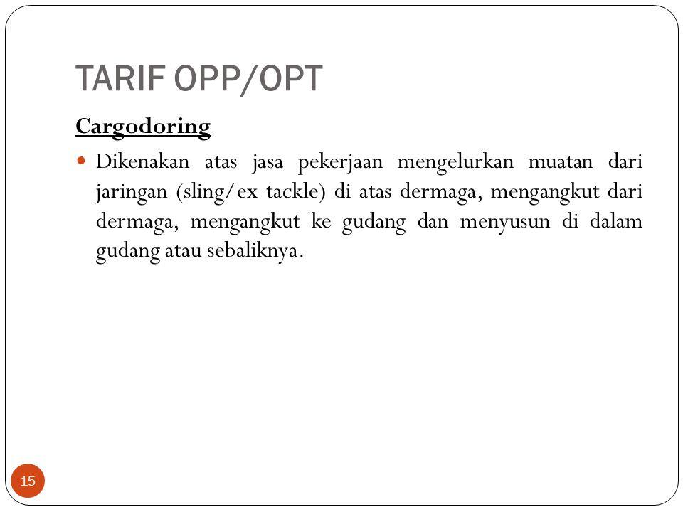 TARIF OPP/OPT Cargodoring