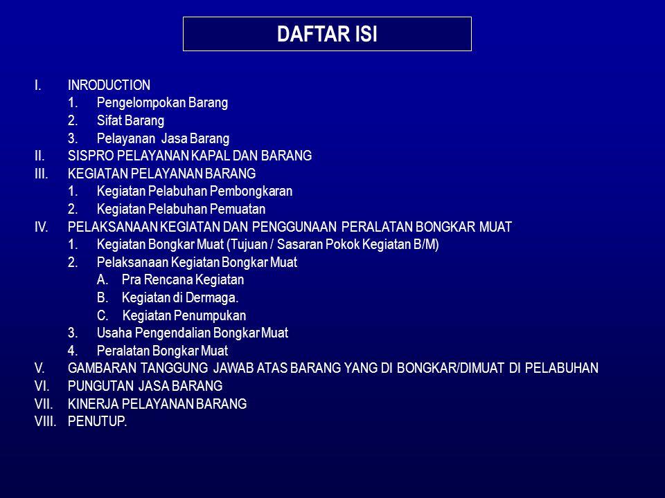 DAFTAR ISI I. INRODUCTION 1. Pengelompokan Barang 2. Sifat Barang