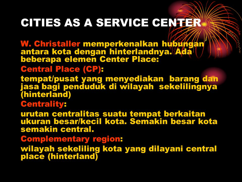 CITIES AS A SERVICE CENTER