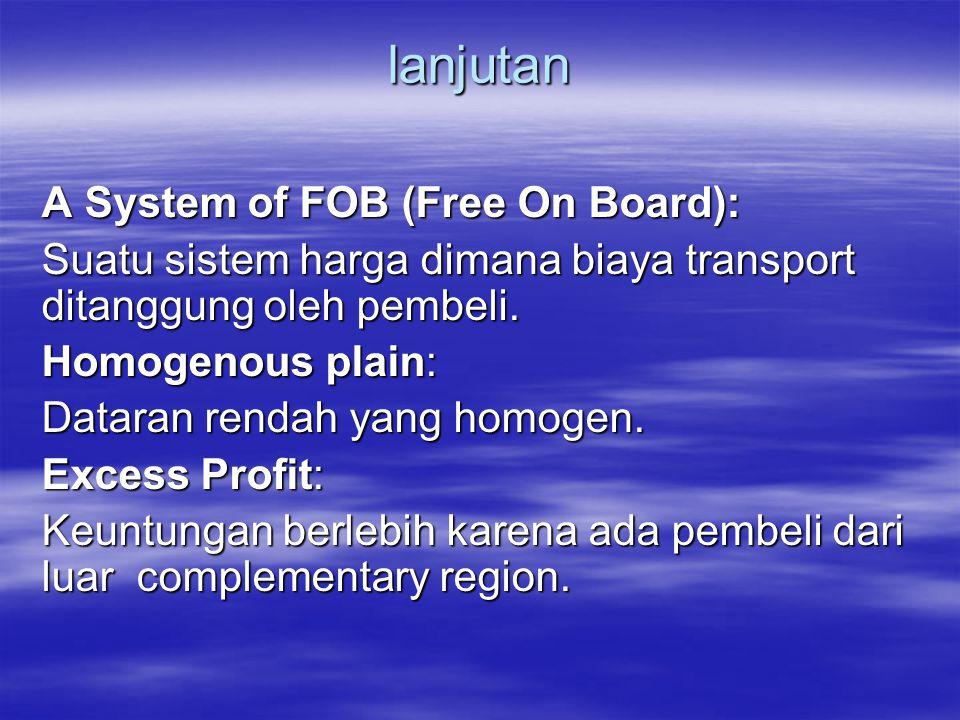 lanjutan A System of FOB (Free On Board):