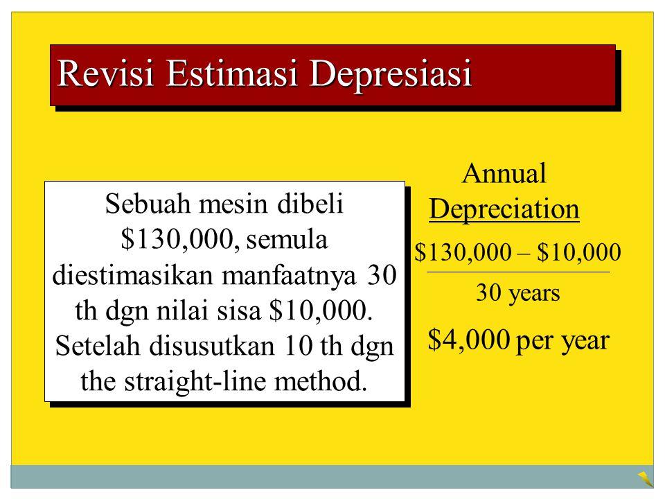 Revisi Estimasi Depresiasi