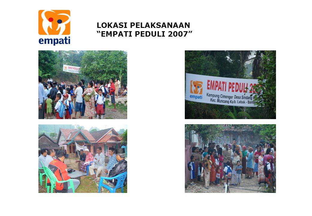 LOKASI PELAKSANAAN EMPATI PEDULI 2007