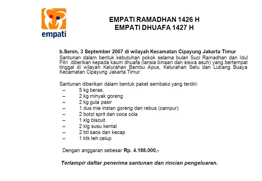 EMPATI RAMADHAN 1426 H EMPATI DHUAFA 1427 H