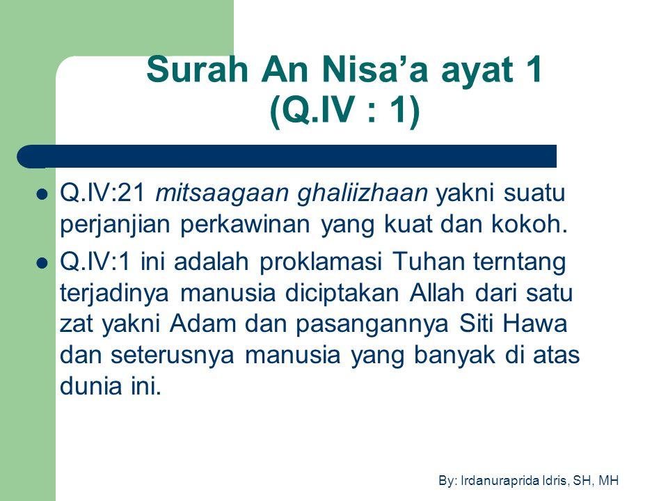 Surah An Nisa'a ayat 1 (Q.IV : 1)