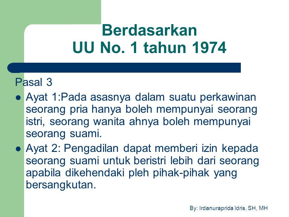 Berdasarkan UU No. 1 tahun 1974