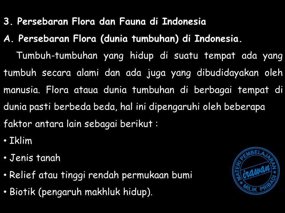 3. Persebaran Flora dan Fauna di Indonesia