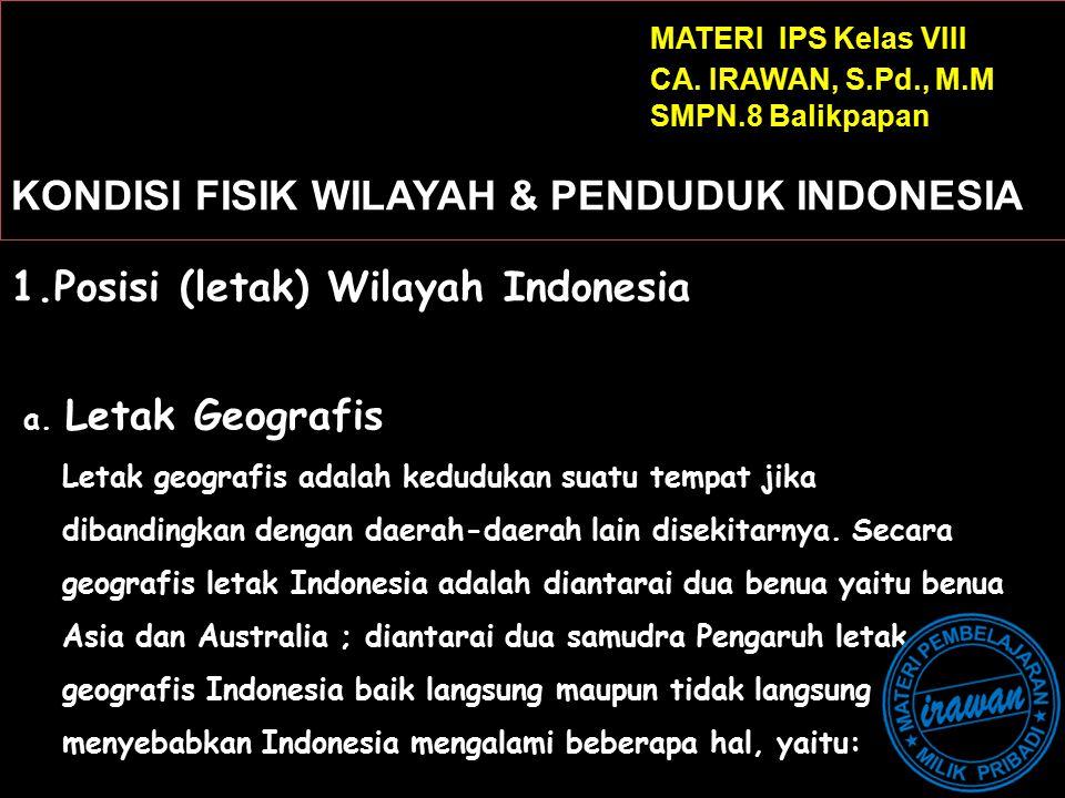 Posisi (letak) Wilayah Indonesia