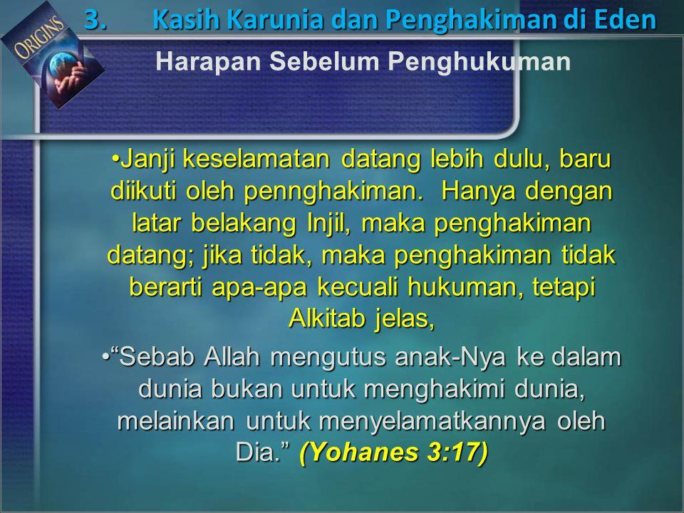 3. Kasih Karunia dan Penghakiman di Eden