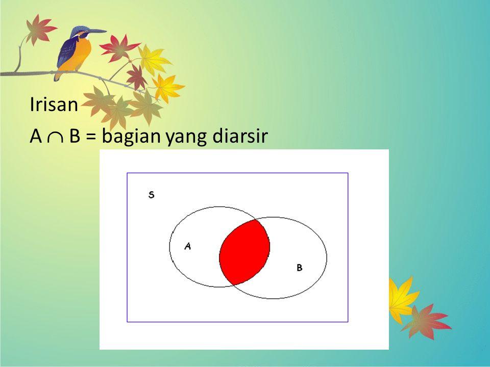 Irisan A  B = bagian yang diarsir