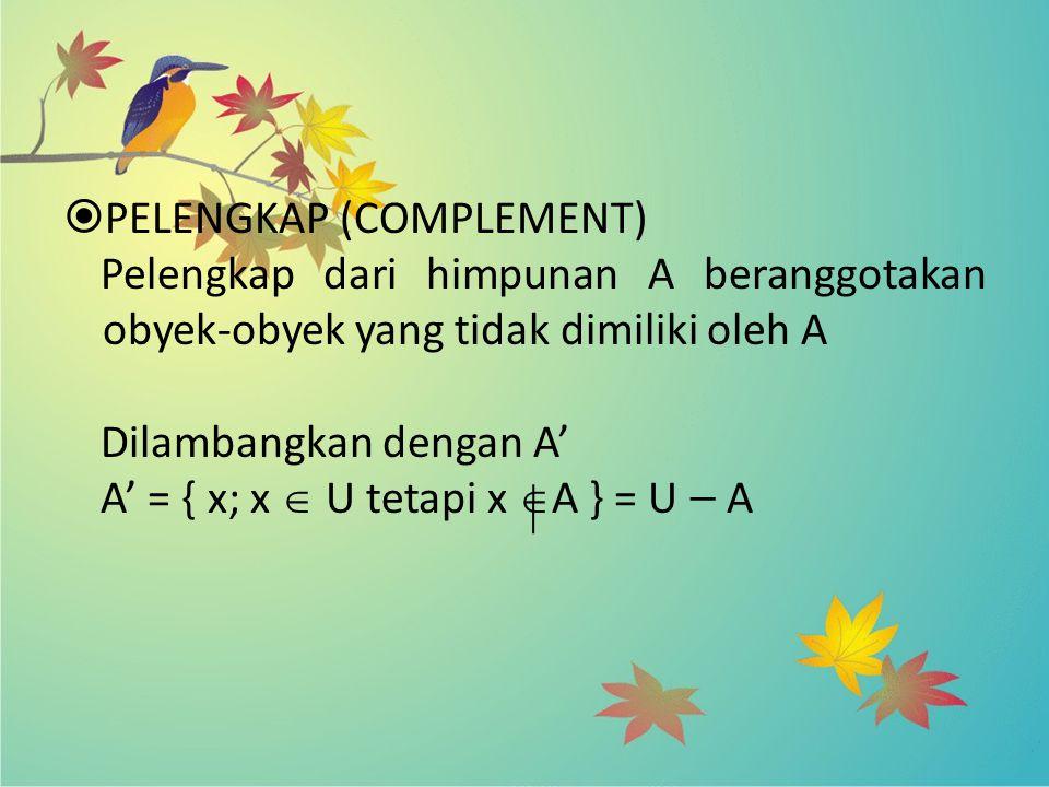 PELENGKAP (COMPLEMENT)