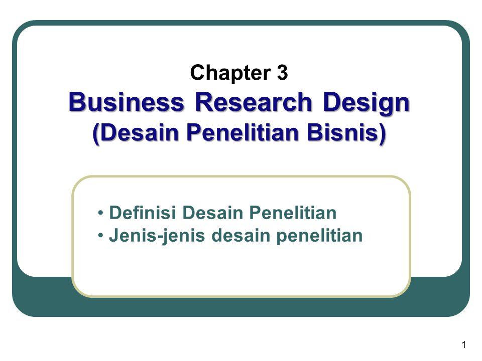 Business Research Design (Desain Penelitian Bisnis)