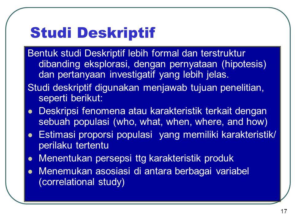 Studi Deskriptif