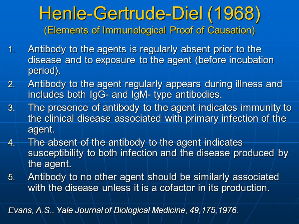 Henle-Gertrude-Diel (1968) (Elements of Immunological Proof of Causation)