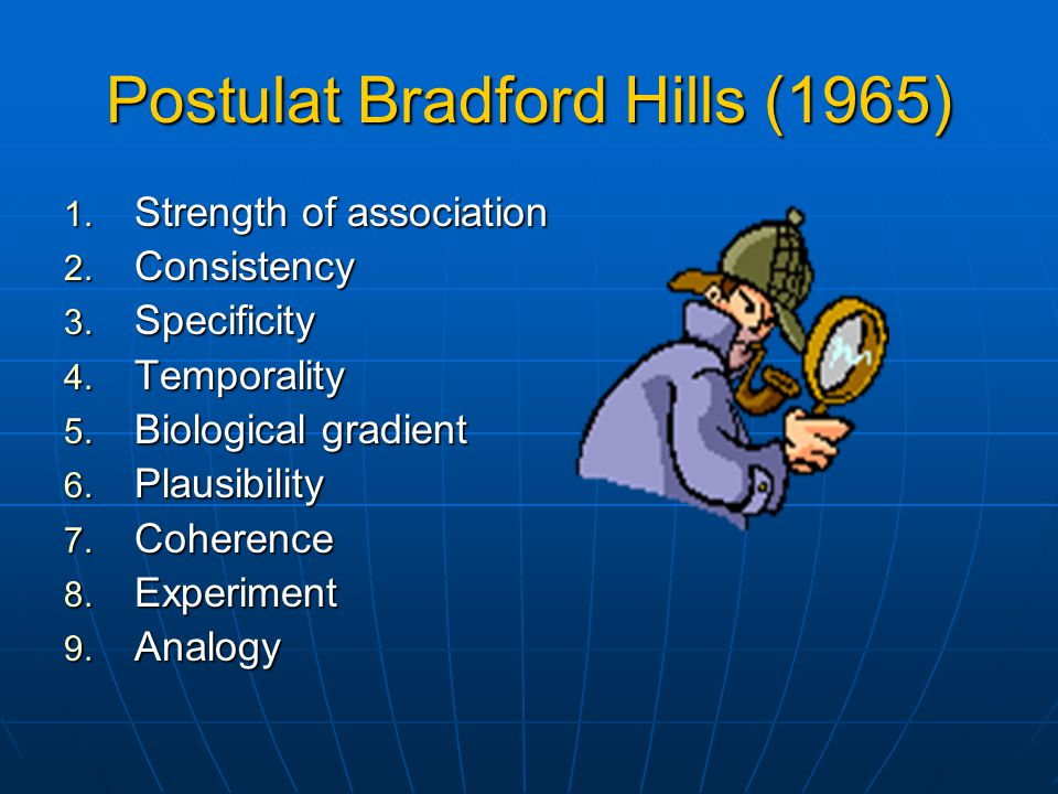 Postulat Bradford Hills (1965)