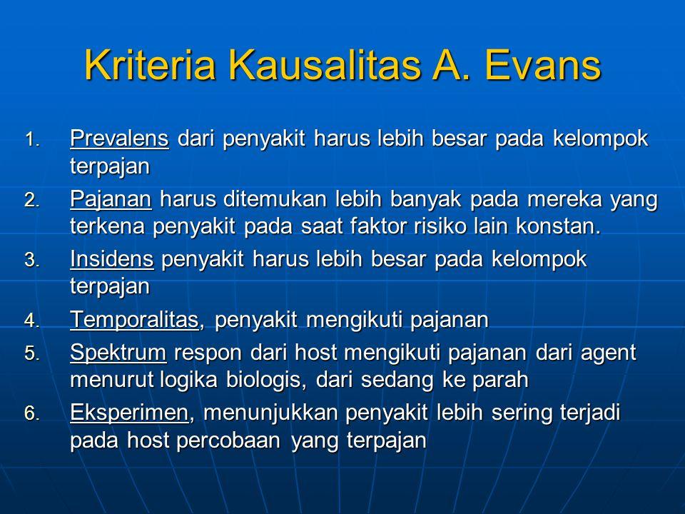 Kriteria Kausalitas A. Evans