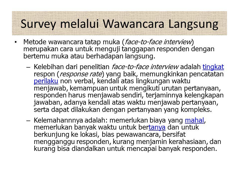 Survey melalui Wawancara Langsung