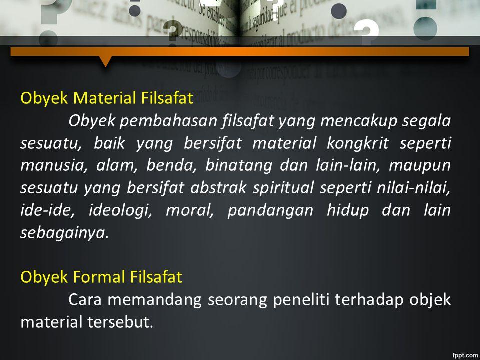 Obyek Material Filsafat