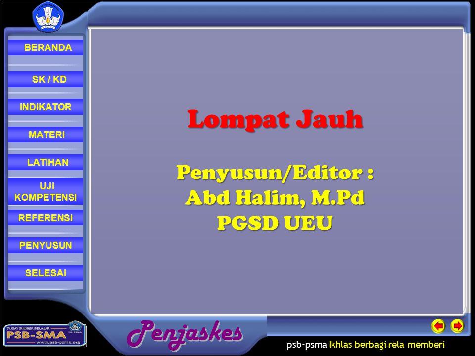 Lompat Jauh Penyusun/Editor : Abd Halim, M.Pd PGSD UEU