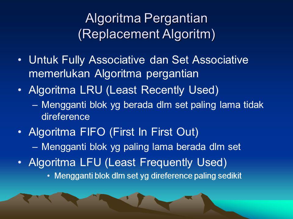 Algoritma Pergantian (Replacement Algoritm)