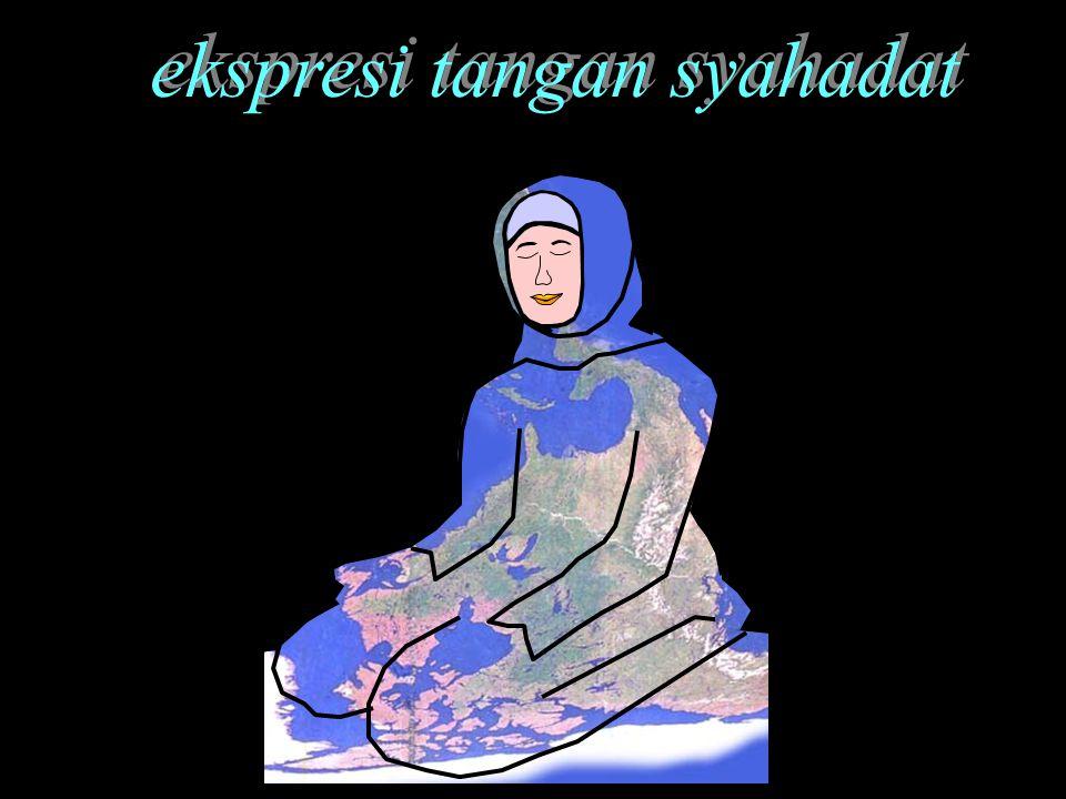 ekspresi tangan syahadat