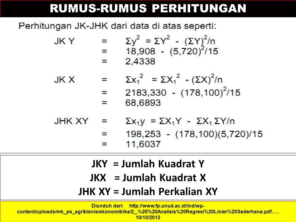 JHK XY = Jumlah Perkalian XY
