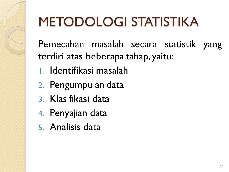 METODOLOGI STATISTIKA