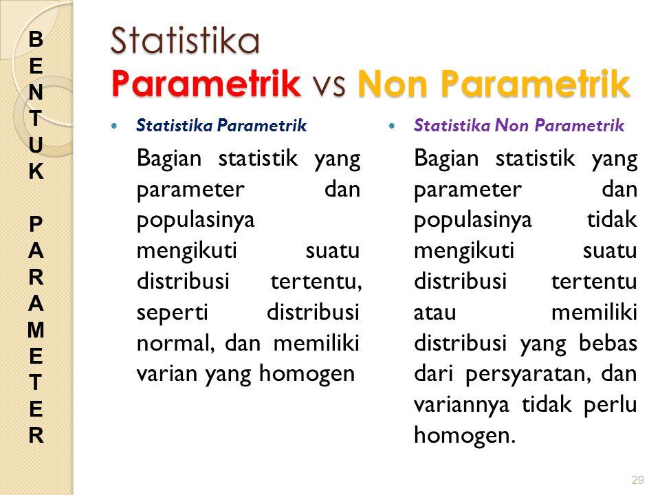 Statistika Parametrik vs Non Parametrik