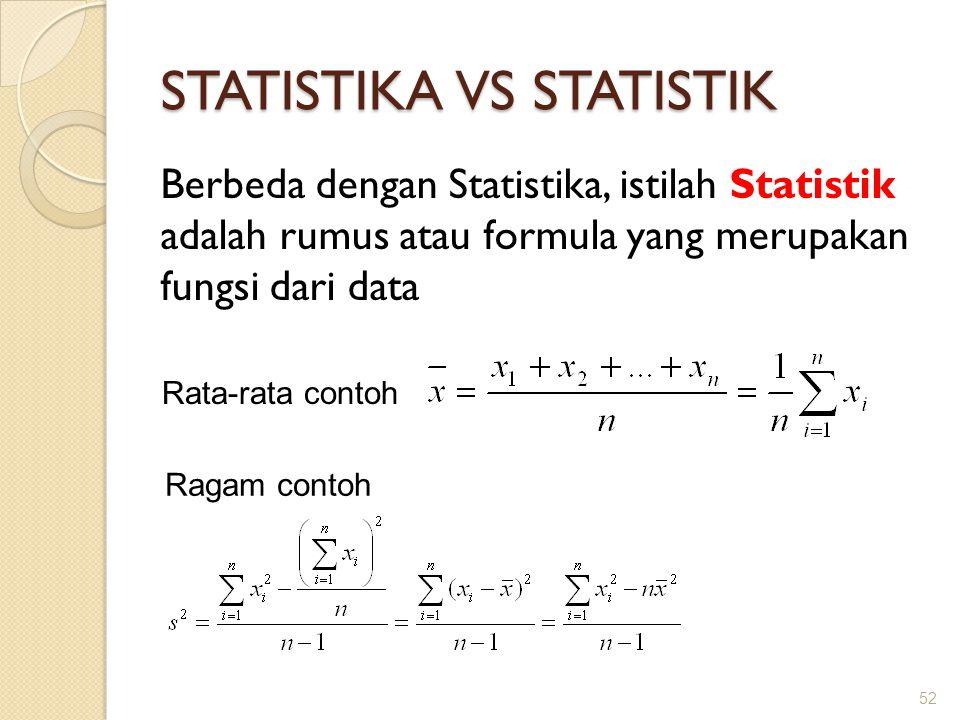 STATISTIKA VS STATISTIK