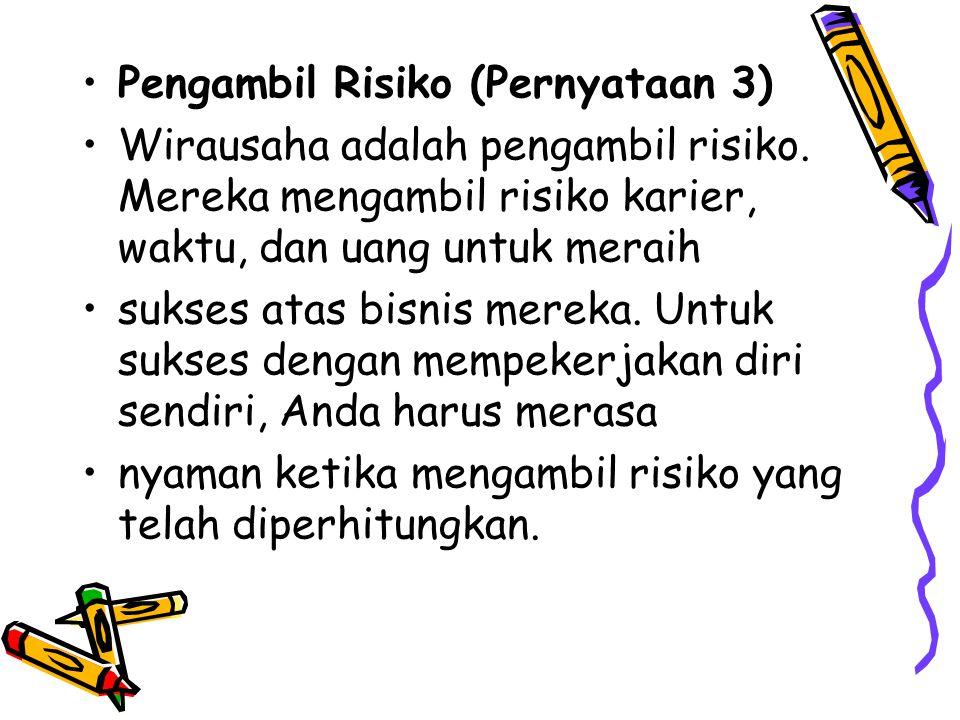Pengambil Risiko (Pernyataan 3)