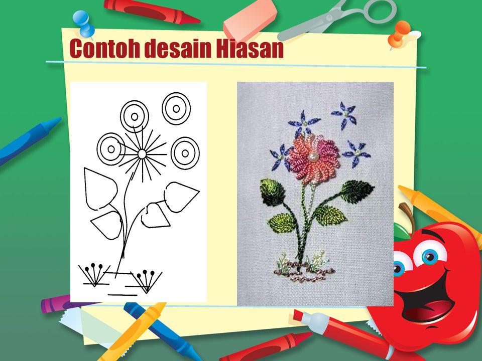 Contoh desain Hiasan .