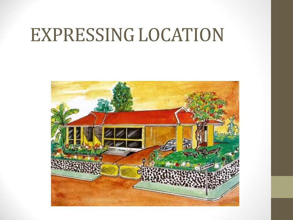 EXPRESSING LOCATION