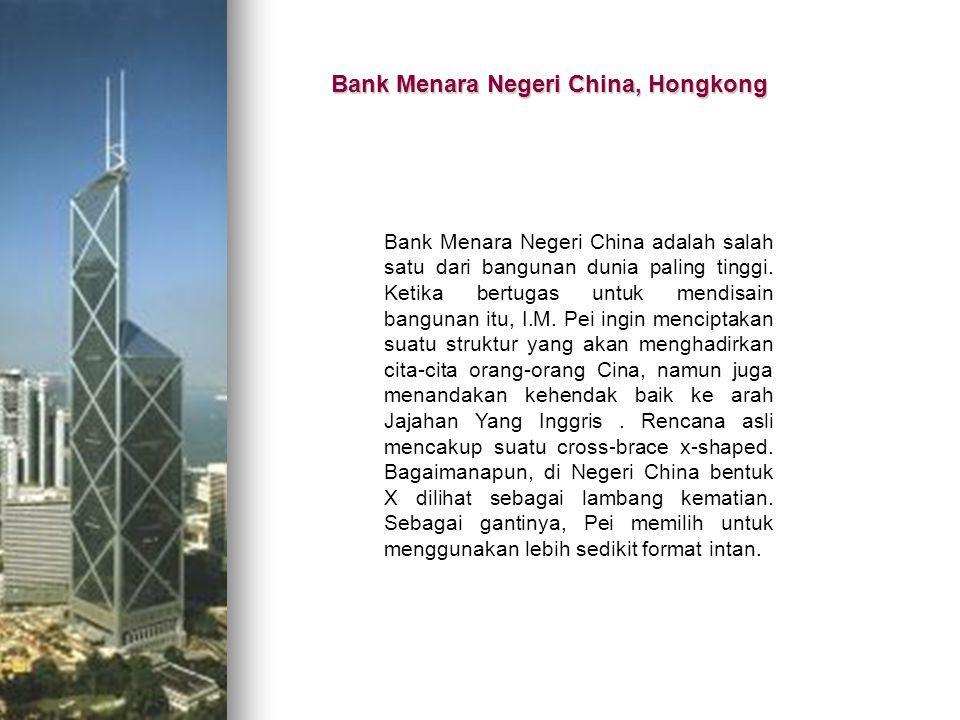 Bank Menara Negeri China, Hongkong