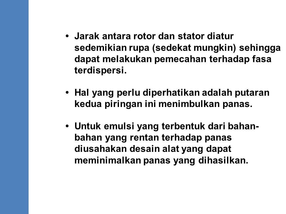 •. Jarak antara rotor dan stator diatur