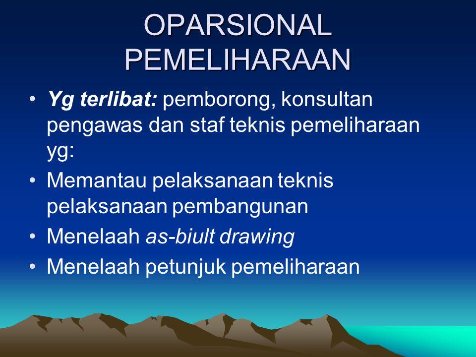 OPARSIONAL PEMELIHARAAN