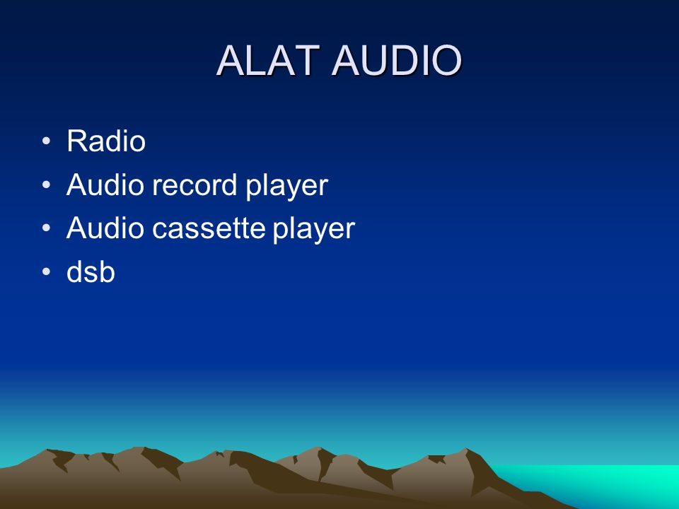 ALAT AUDIO Radio Audio record player Audio cassette player dsb