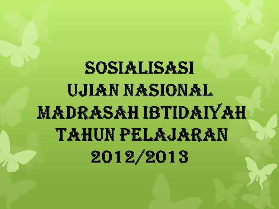 Ujian Nasional Madrasah Ibtidaiyah
