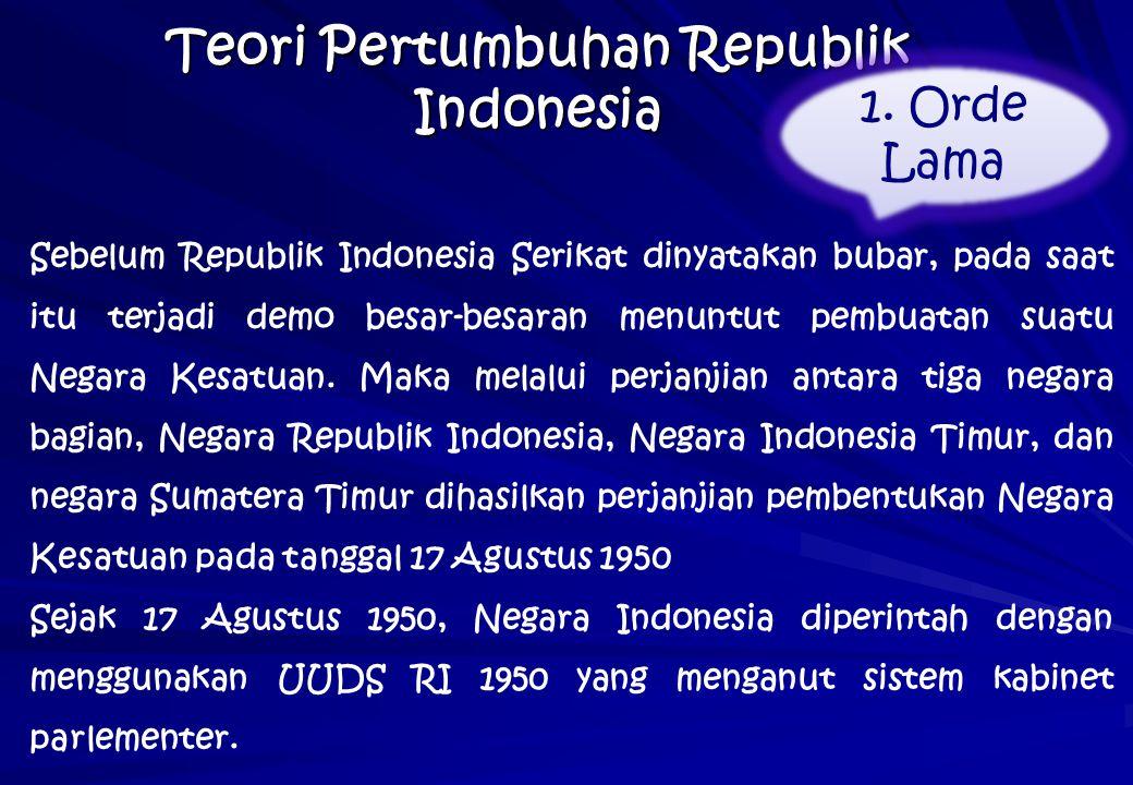 Teori Pertumbuhan Republik Indonesia