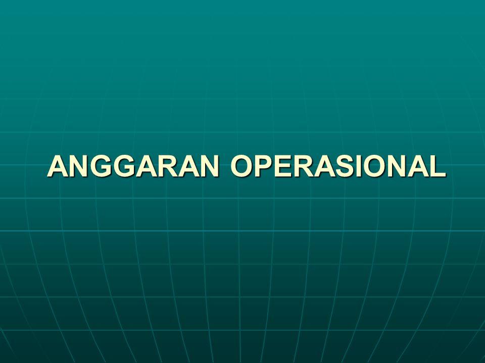 ANGGARAN OPERASIONAL