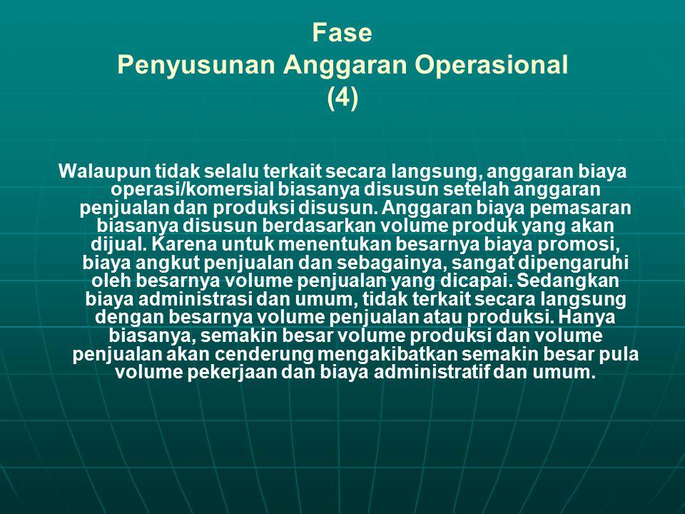 Fase Penyusunan Anggaran Operasional (4)