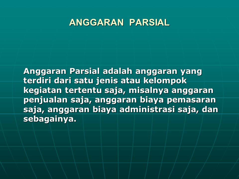 ANGGARAN PARSIAL