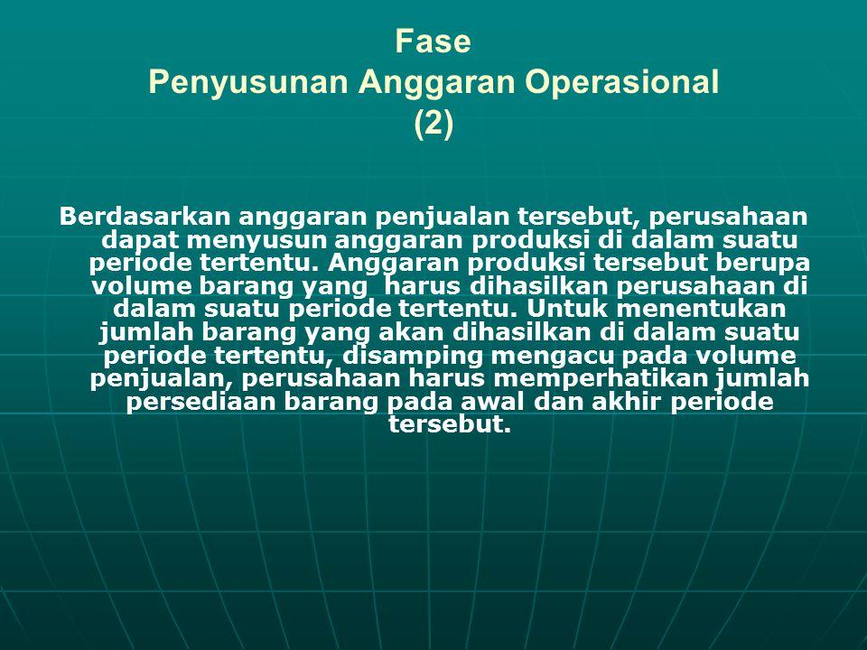 Fase Penyusunan Anggaran Operasional (2)