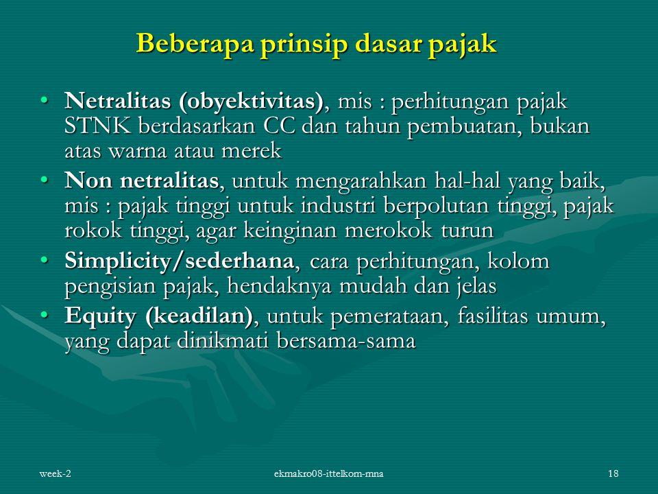 Beberapa prinsip dasar pajak