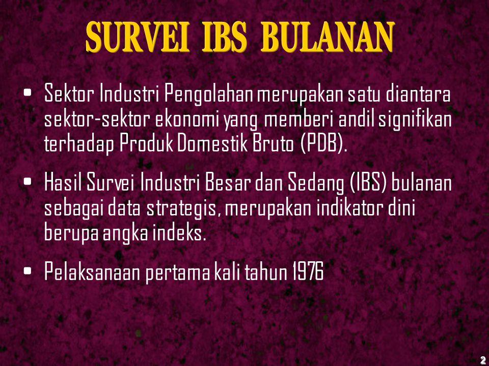 SURVEI IBS BULANAN