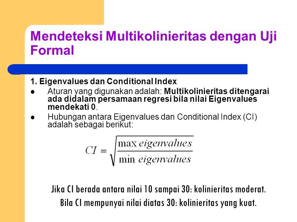 Mendeteksi Multikolinieritas dengan Uji Formal